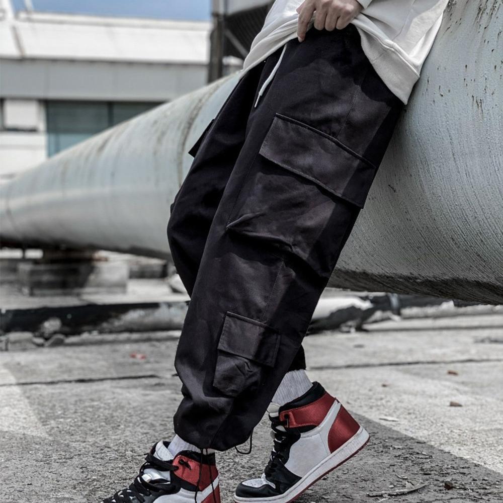 Mens Joggers Hosen Casual Hose Hip-Hop Unisex Hosen Mode Sweatpants Streifen Panalled Bleistift Jogger Hosen Asiatische Größe E2O5
