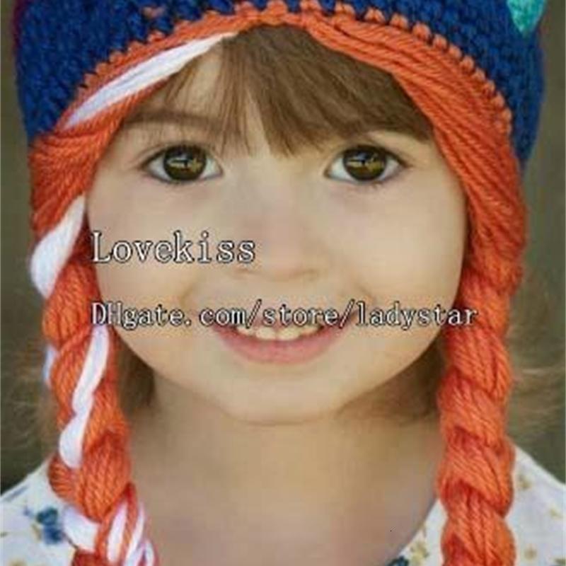 OutletChildren Lana congelata protezione del bambino dei cappelli ragazze lavorate a mano del Caps bambini Crochet