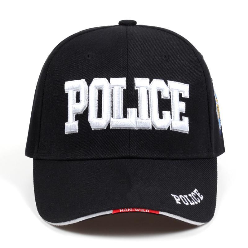 2019 New Police Mens Tactical Cap Swat Berretto da baseball Berretto da baseball Uomini Gorras Para Hombre Donne Snapback Bone Masculino Army Cap LetterX1016