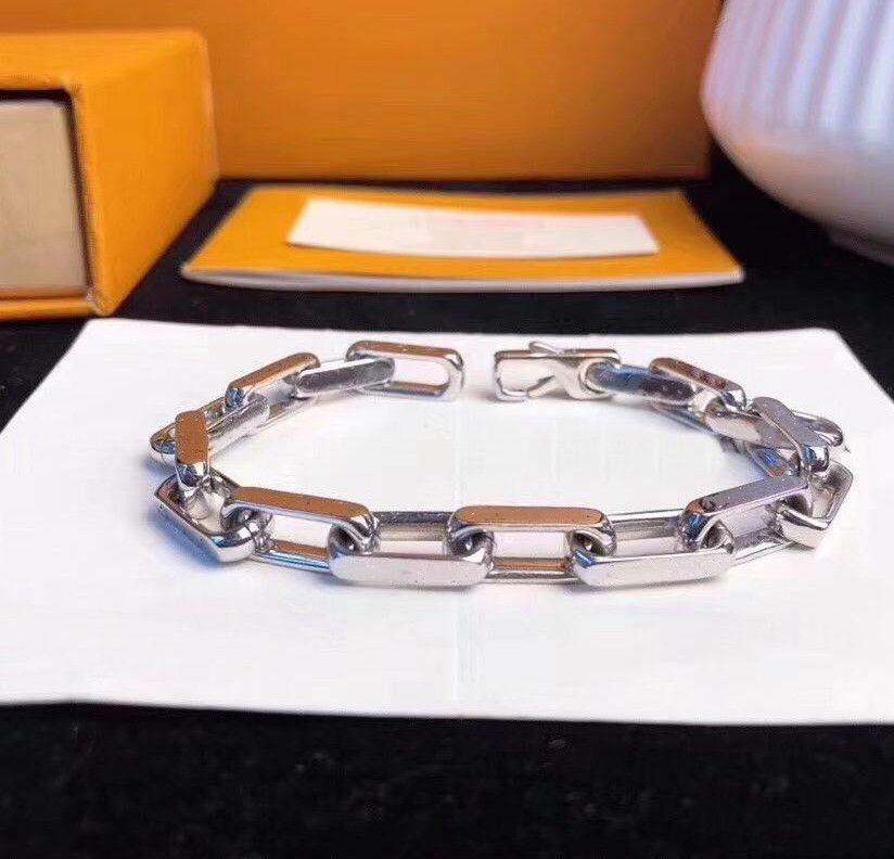 Mode armband neu kommen mann und frau 316l titanium stahl grav farbig armband 18k überzogene gold dick kettenarmbänder