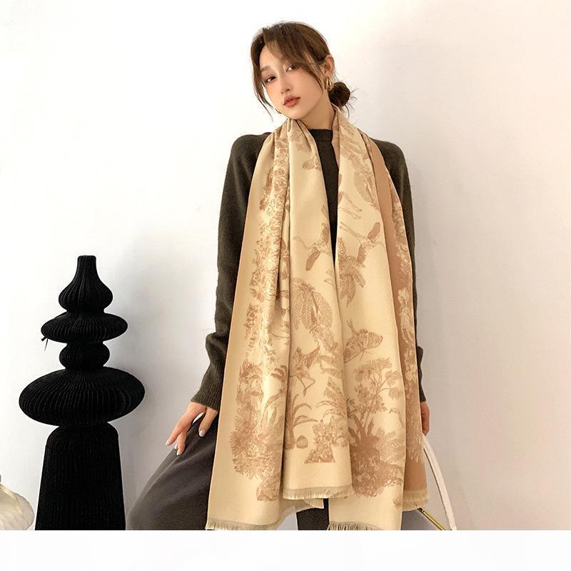 2020 Sciarpa invernale Donna Cashmere Lady Stoles Stole Design Stampa Scialli caldi femminili e avvolgimenti Sciarpe reversibili spesse Coperta