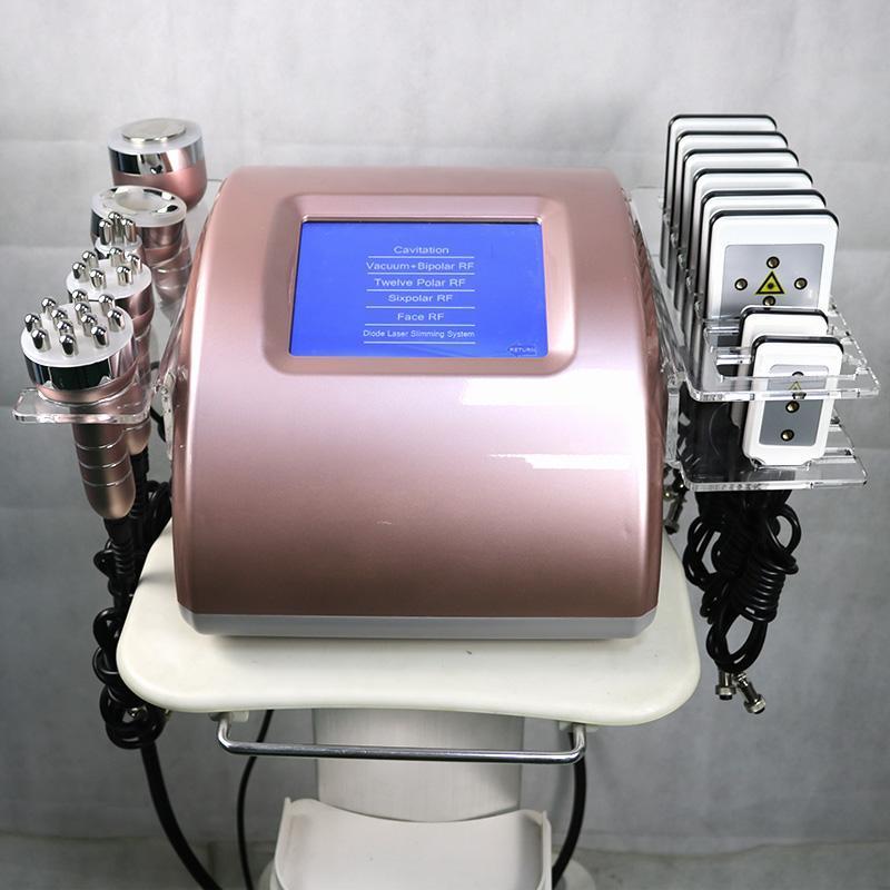 Cavitation Minceur Machine Lipolaser RF Vacuum minceur Machine de cavitation ultrasonique Machine Soins de la peau Equipement de salon RF Rish