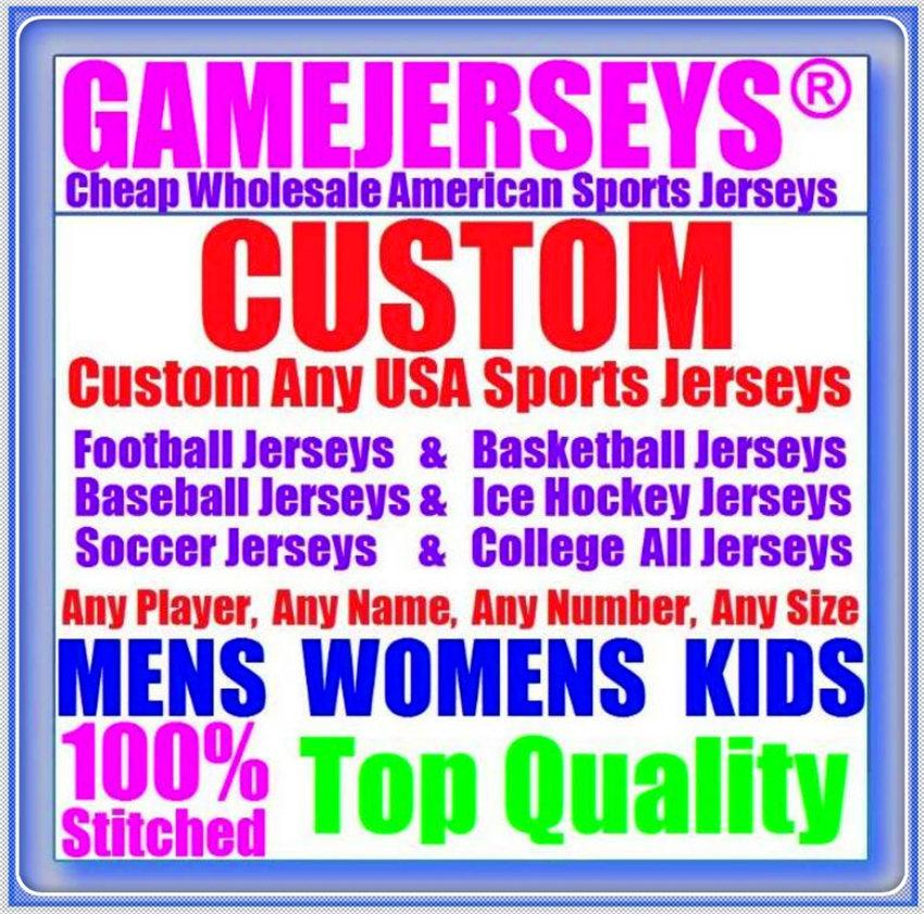 Custom Baseball Hockey Basketball American Football Jerseys pour Mens Femme Jeunes enfants Couleur Baseball Soccer Jersey Rush 4XL 5XL 6XL