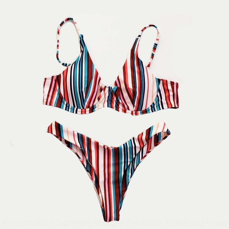 Tzuqp Bailan 2020 Traje de baño Sexy Presión digital de doble cara Dividir Femenina Bailan 2020 BikinisWimsuit Bikini Sexy Bikini Dígito de doble cara
