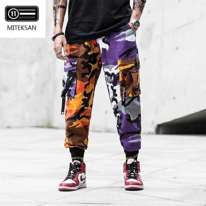 Nuevos joggers Pantalones de carga Hombres Streetwear Camuflaje Fashions Hip Hip Corrano pantalones Casual Tallas grandes CP pantalones pantalones hombre 201109