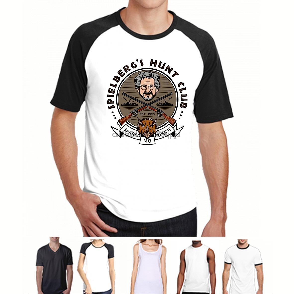 Imprimé hommes T-shirt à manches courtes T-shirt New Style Triceratops Hunt Club Steven Spielberg femmes T-shirt du sport Sweat à capuche à capuche