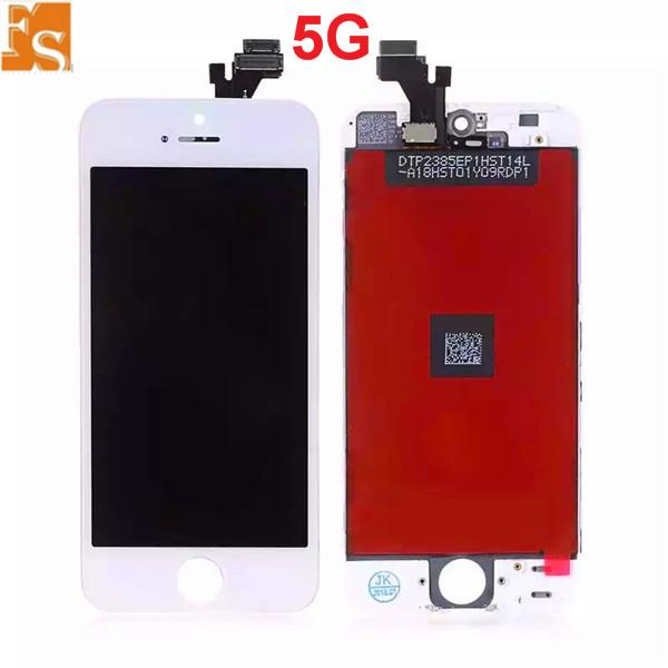 For iPhone 5 5S 5C LCD high Quality No Dead Pixels Touch Display Digitizer Screen with Frame with Small Parts Assembly Repalcement Parts