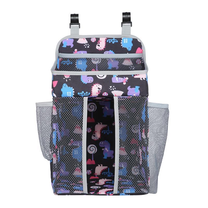 Armário de roupas Caneca de vidro Prateleira Cabide Fralda Wipes saco de armazenamento portátil Berço pendurar sacos de cabeceira adesivos malha saco