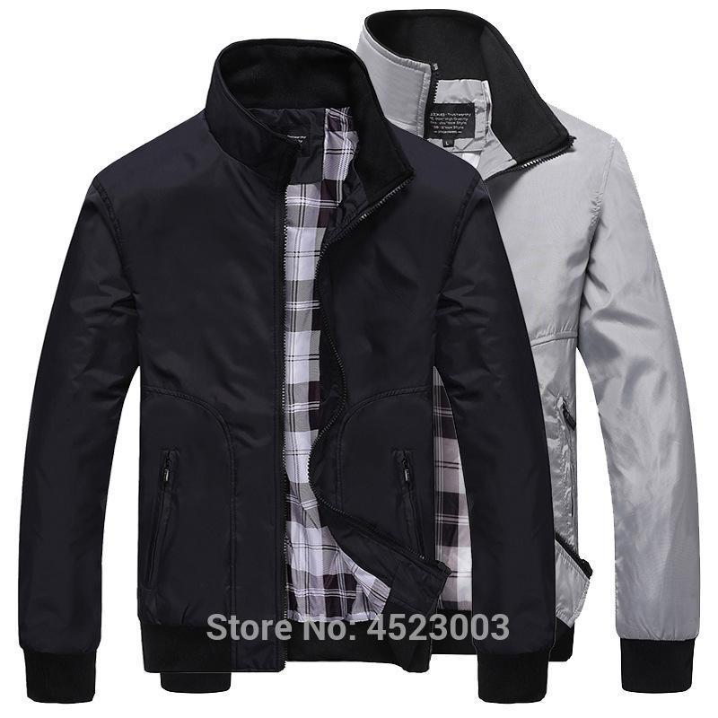 Bomber jaquetas masculinas de outono Primavera Casual Masculino Exteriores Blusão Fina Jaquetas Homens Baseball Magro Coats