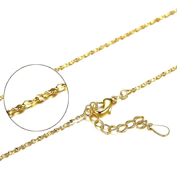 S925 Sterlingsilber überzogene Ketten-18K Gold überzogene Schlange Box Kreuz-Anhänger DIY Halsketten-Schmuck 40cm + 4cm 1mm Großhandel