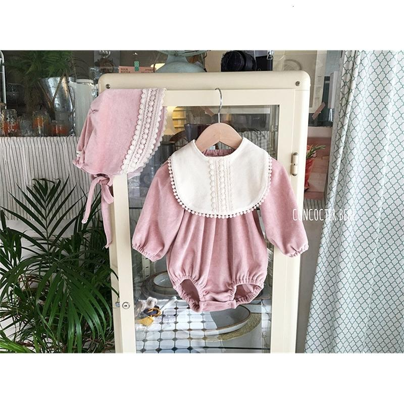 2021 New Fashion Body Baby Girl Ropa 3 unids niñas Body + Babs + Hat Linda Princess Jumpsuit Infantil Niños Ropa Set DU63