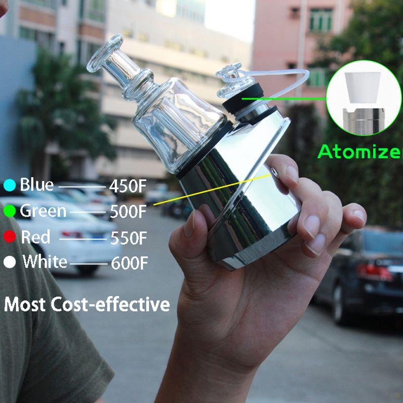 G9 SOC E 네일 키트 정통 100 % 그린 라이트 비스 템퍼 컨트롤 왁스 컨테이너 농축기 오일 Enail 건식 기화기 2800mAh 유리 물 DAB 장비