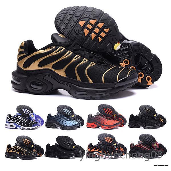 2019 Nova Running Shoes Men TN Sapatos tns mais Moda aumento da ventilação Casual Trainers Olive azul vermelho preto Sneakers Chausseures YHC6