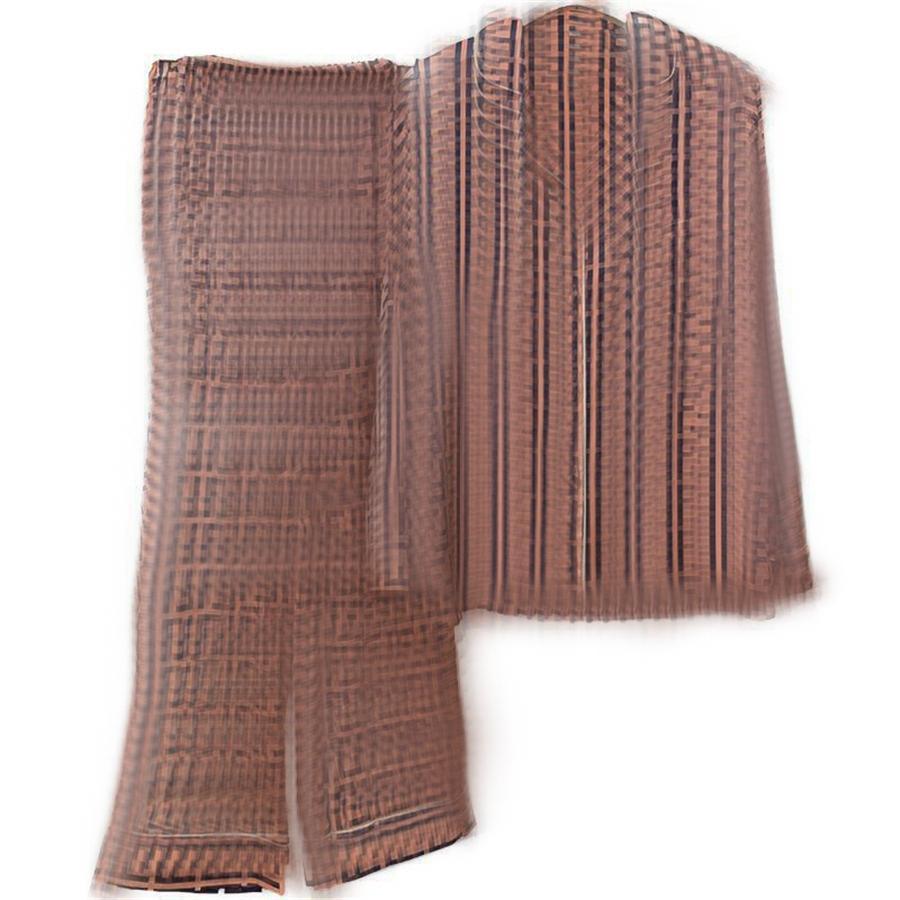 INS I Silk Pajamas 2021 New Sleepwear Winter Wite Long Sleeve Silk Women Ome Pajamas Dener #121#92500
