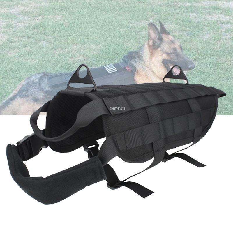 Hunting Jackets Army Tactical Dog Vest Adjustable Outdoor Service Clothing Molle Training Vests Harness1
