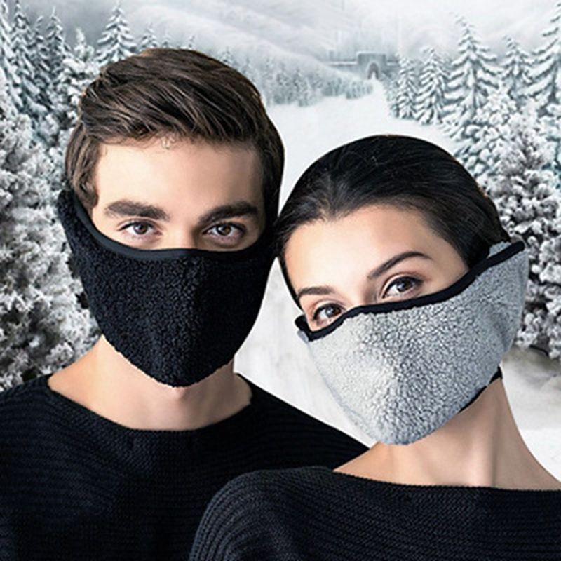 Protección del oído orejeras de invierno caliente cara manguitos para las mujeres Máscara Calentamiento dos en uno Máscaras oído de las orejeras de invierno cubierta de la cara del partido IIA760