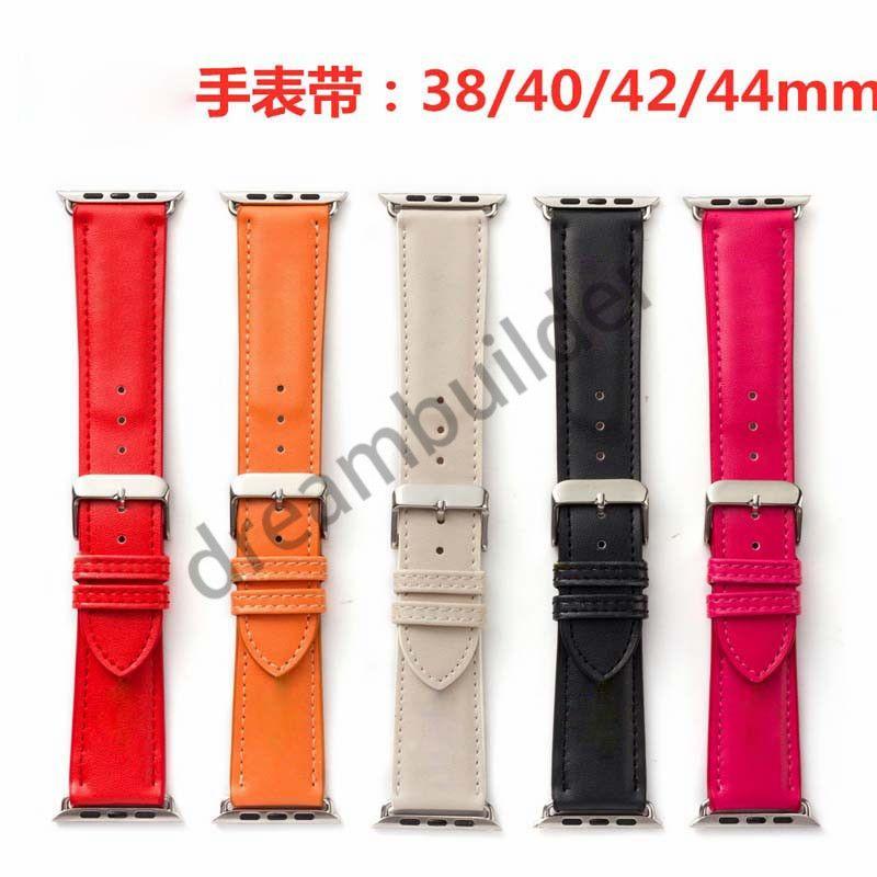 الأزياء watchbands ل أبل ووتش الفرقة 42 ملليمتر 38 ملليمتر 40 ملليمتر 44 ملليمتر iwatch 1 2 345 العصابات جلدية حزام سوار الأزياء المشارب شحن مجاني