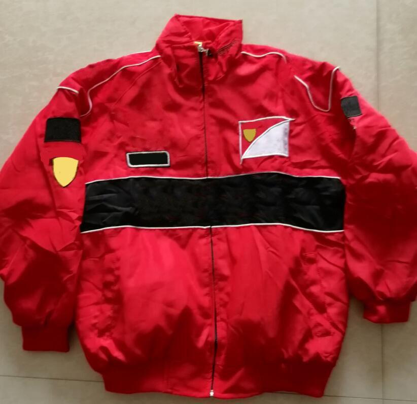 2020 F1 Costume de course, style universitaire, ventilateurs européens et américains, veste décontractée, veste en coton, veste d'hiver brodée complète