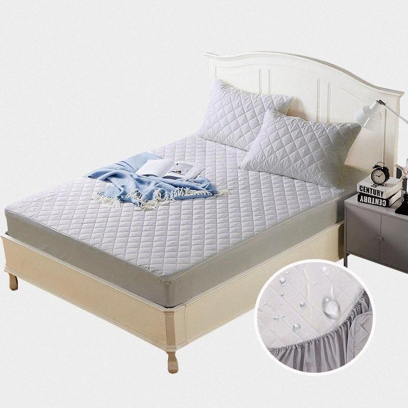 Sólido 160 * 200 macia escovado tecido impermeável Capa Colchão Anti-Ácaro Bed umectante e Bed Bug colchão Protector tampa 1pc 9Knv #