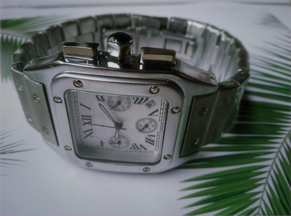 Luxury Black Gold Mascule Reloj Militar Cuarzo Deporte Muñeca Reloj Hombres Cronógrafo Impermeable Muestra Relojes Deporte Reloj de pulsera