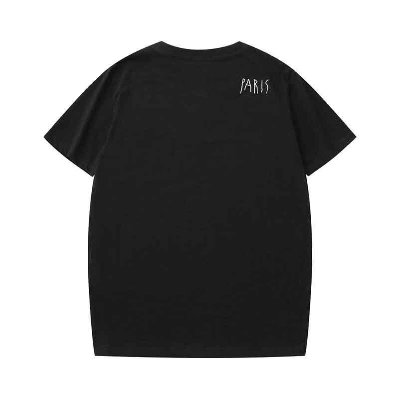 2019 الصيف مصمم القمصان للرجال قمم إلكتروني الفاخرة التطريز تي شيرت الرجال النساء الملابس بأكمام قصيرة الزى الرجال المحملات