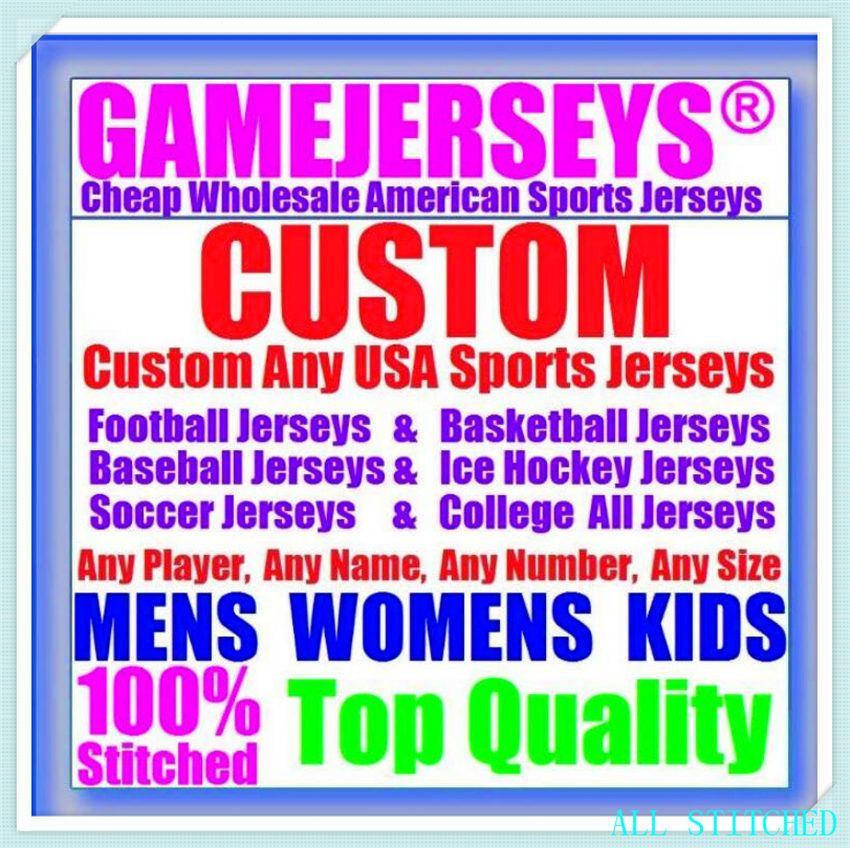 Custom BASEBALL HOCKEY BASKETBALL Mens Womens Youth American football Jerseys Sports Vapor Untouchable Official jersey gray 4xl 5xl 6xl
