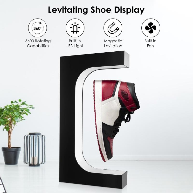 Magnetic Levitating Shoes Display 360 Degree Rotation Floating Sneaker Stand