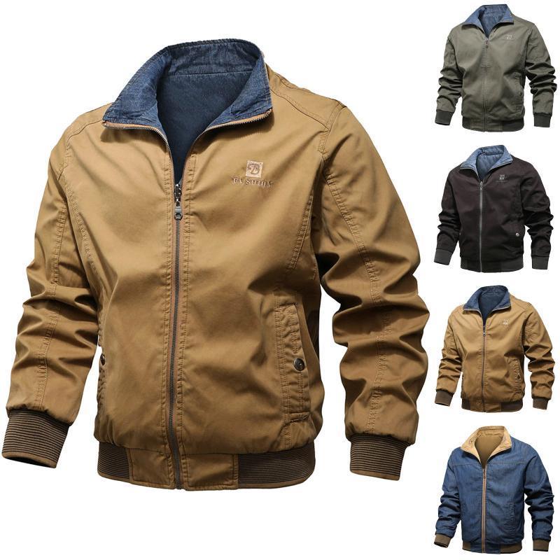 Uomini inverno caldo manica lunga softshell per chiusura morbida antivento Giacca per camicetta Plus Size L-4XL Abbigliamento uomo Abbigliamento Vesta