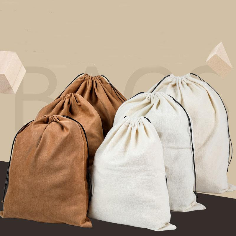 Soft Dust-Cover Storage Bags with Drawstring Suede Jewelry Pouch for Purses, Handbags, Jewelry, Gifts,Pocketbooks, Shoes, Boots-Set of 3-S/M