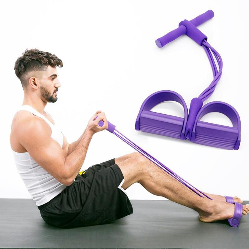 Resistance Bands Fitness Sit-Up Pull Rope Tension Band Abdominal Exercise Equipment Sporting Tool Slimming Women Men
