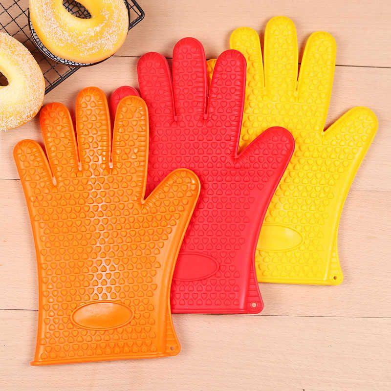 Кухонные выпечки Руководные Дешевые инструменты Резиновые тепловые пластиковые защитные перчатки