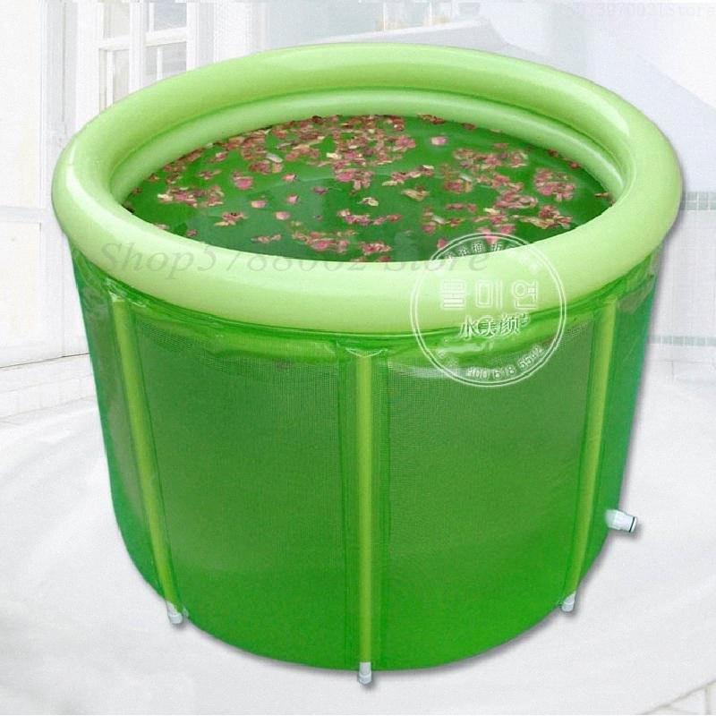 adulto dobrável banho de banheira barril adulto banheira Duplo banheira inflável sobredimensionada XPsv #