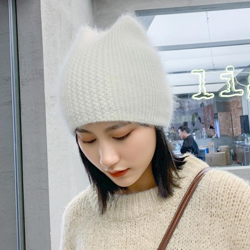 Chapéu de espuma de orelha de pele de menina simples para mulheres culâncias de inverno quente tampão gorros gorros cap1