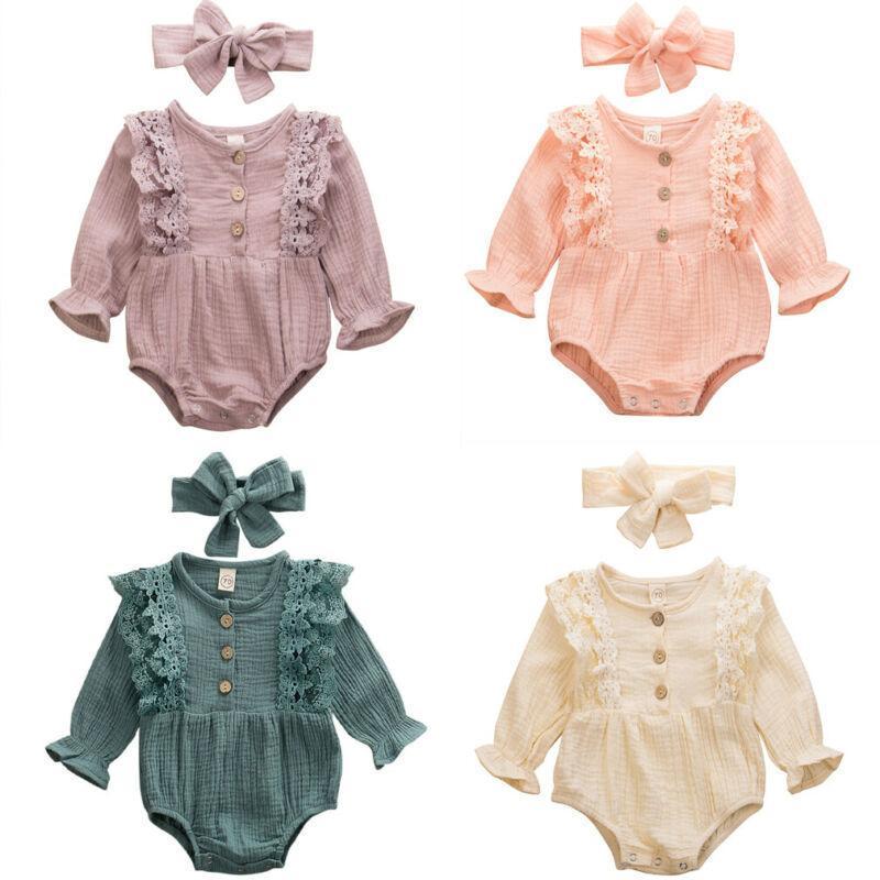 مجموعات الملابس الطفل ربيع الخريف ولد الرضع الاطفال ملابس الفتيات الدافئة القطن الكتان زر منزعج بذلة ارتداءها عقال
