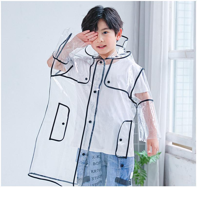 Новый стиль Jlllmv Clear Girls куртка детей 1 шт. Прозрачное длительное высокое качество моды водонепроницаемые мальчики с капюшоном четыре размера плащ NNOHC