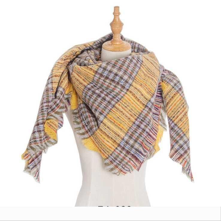 Designer Plaid Scarf Inverno Donne Warm Foulard Solid Coperta di lusso Sciarpe moda scialli cashm