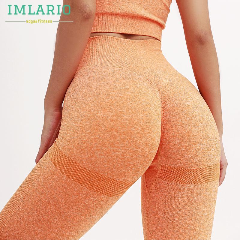 Imlario Sevimli Spor Salonu Egzersiz Kesintisiz Tayt Scrunch Booty Kadınlar Suqatproof Spor Spor Alt Streç Aktif Yoga Pantolon X1227