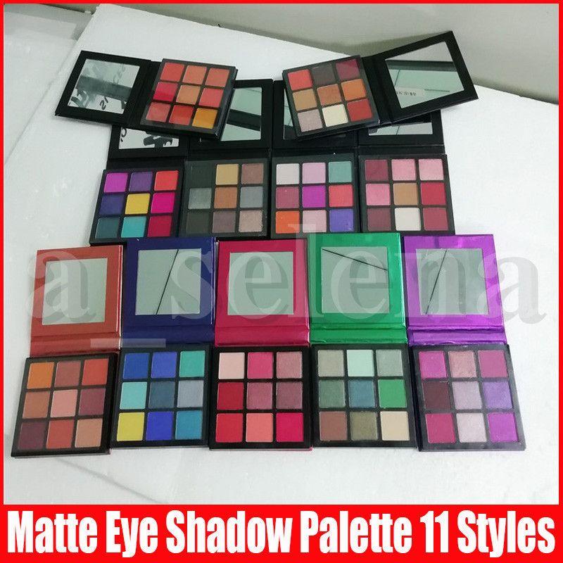 9 colori Matte Eyeshadow Presse trucco della gamma Ombretto Warm Smokey Mauve elettrico Brown Ametista Rubino Smeraldo Zaffiro corallo della pietra preziosa