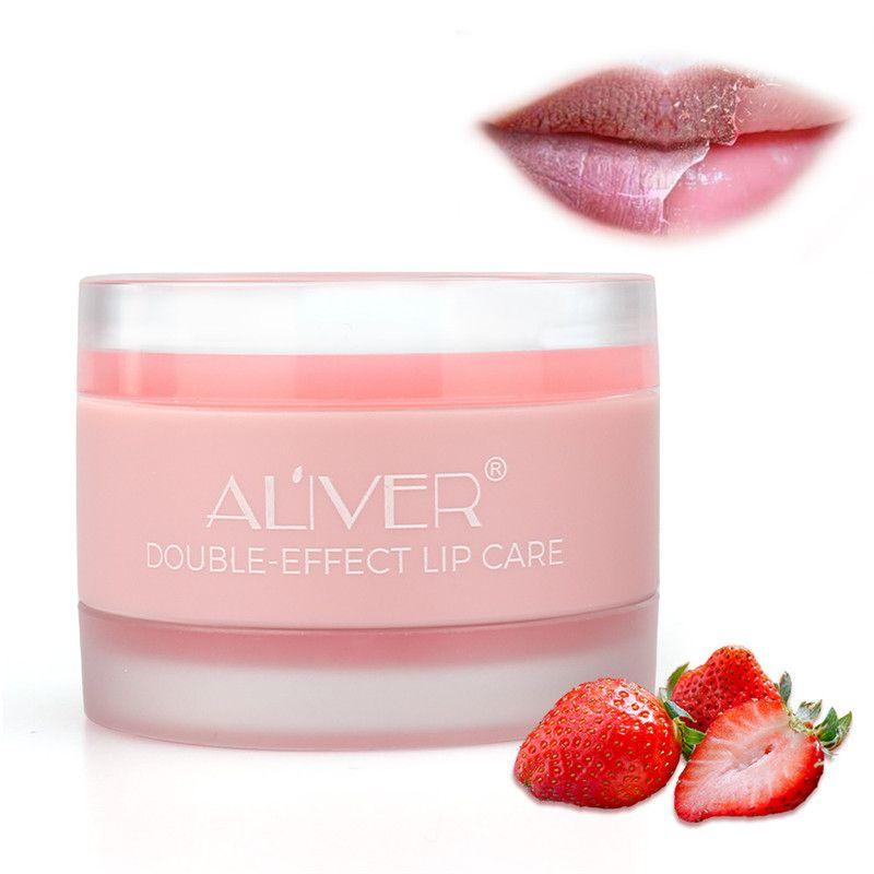 ALIVER Lip Scrub Gel + увлажняющий крем 2 в 1 для губ Покровительство Protect губ Уход Бальзам для губ Скраб Jelly Увлажняющий губы маска 6шт