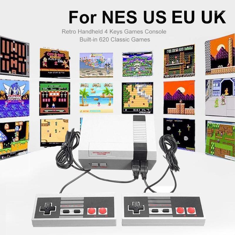 Giocatori portatili Giocatori US / UK / UE Plug Retro Giochi portatili console Mini TV per NES US 8 bit classico giocatore1