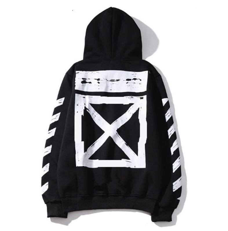 XXXXL Büyük Boy Pamuk Hoodie 4XL Siyah Beyaz Off Omuz Beyaz Düz Mürettebat boyun Kazak