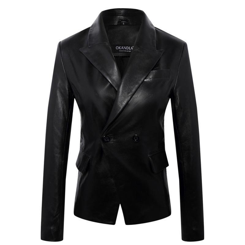 Fashion Genuine Jacket Plus Size Soft Leather Suit Suede Lady Business Suits Sales Women Coat