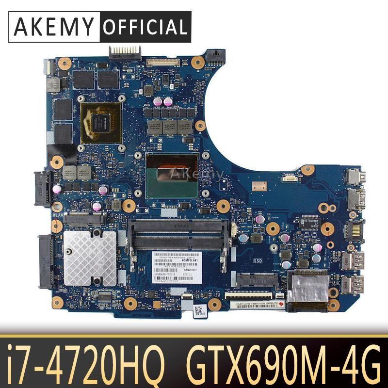 Akemy N551JW/N551JM Laptop motherboard for ASUS N551JW N551JM N551JQ G551JW N551J Test original motherboard -4720HQ GTX960M-4G