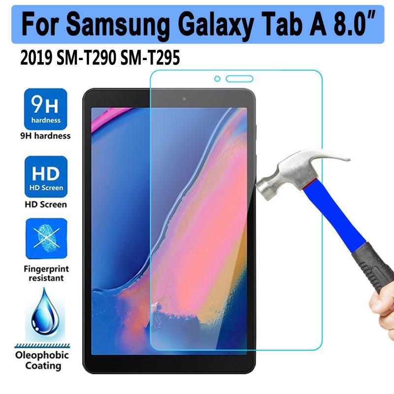 9H 강화 유리 삼성 갤럭시 탭 8 2019 8.0 SM-T290 SM-T295 T290 T295 화면 보호기 0.3mm의 태블릿 보호 필름
