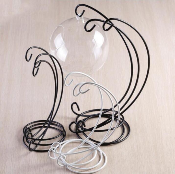 Demir Standı Raf Ekran Standı Asılı Süs Mikrokondole Şişe Demir Çerçeve Pilon Cadı Topu Tutucu Düğün Ev Dekor DHE3768