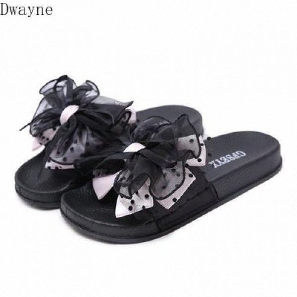 2020 Summer New sandales et pantoufles Muffin fond épais Mode Fleurs Bow Femmes Chaussures confortables pantoufles LV4P #