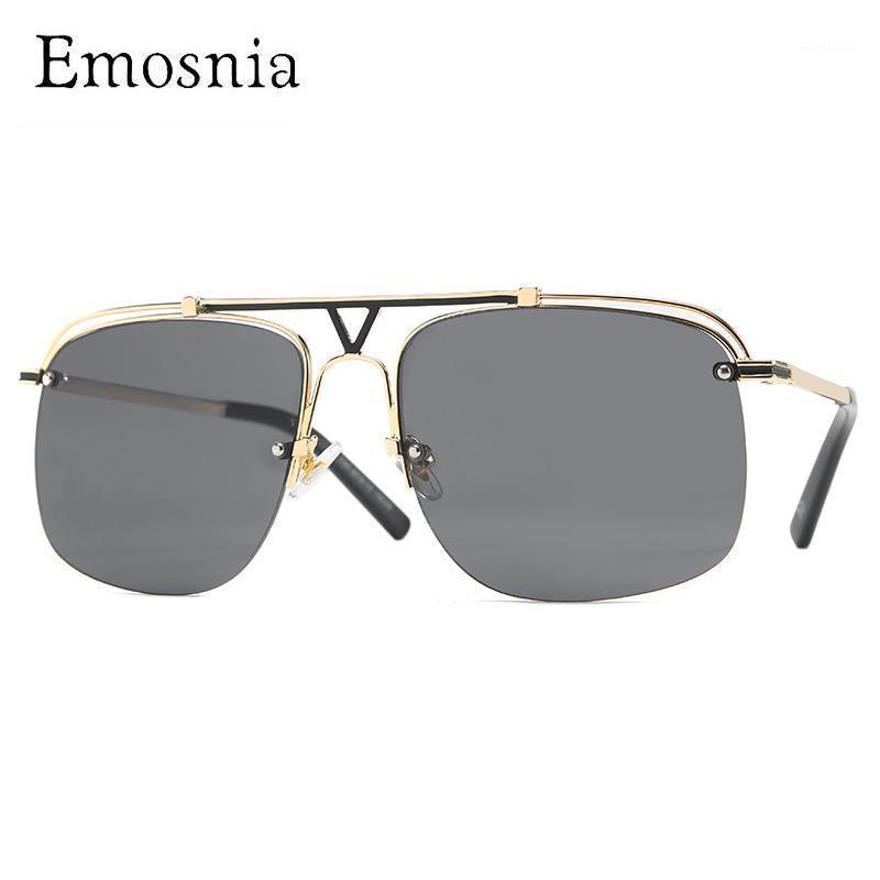 Солнцезащитные очки Emosnia Classic Vintage Высокое Качество Уникальная Мода Instagram Стиль Street S Солнцезащитные Очки Металлическая Рамка Очки UV4001
