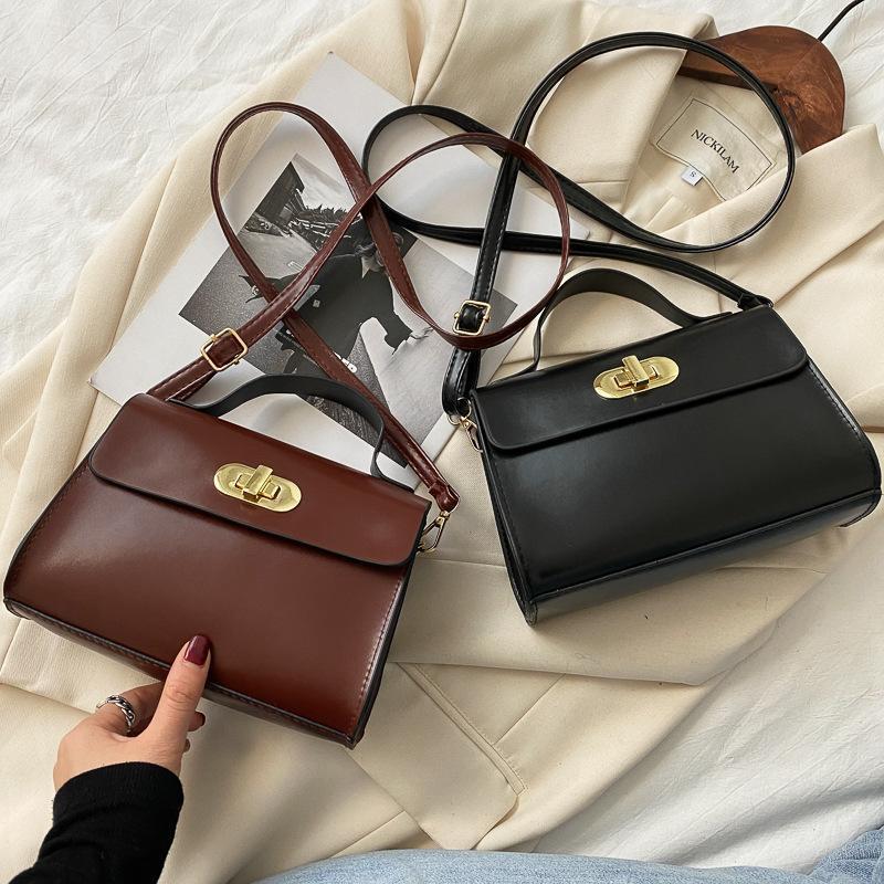 2021 Neue Frauen Mode Trend mit PU-Leder Kleine Quadrat Messenger Bag Umhängetasche Handtasche abfallend