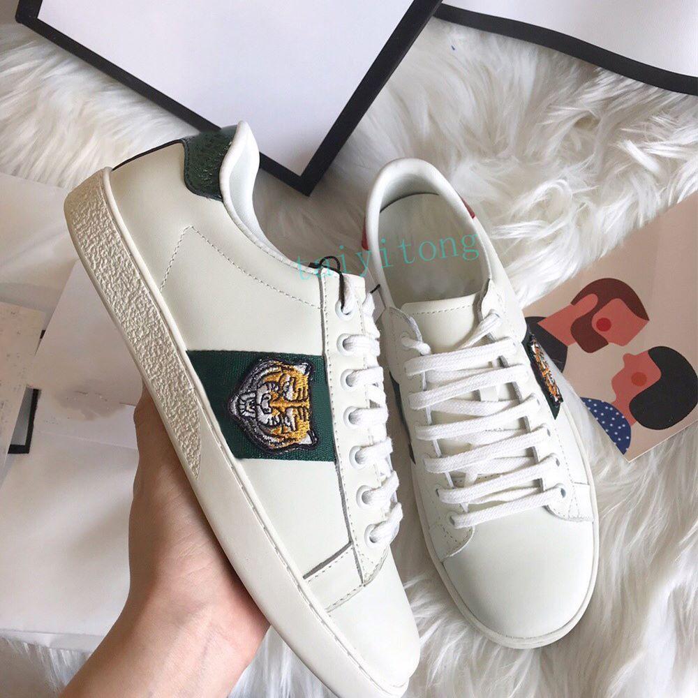 Konfor Yüksek Kalite Rahat Ayakkabılar Erkek Kadın Sneaker Moda Çorap Yürüyüş Spor Nakış Eğitmenler Kaplan Boyutu 36-45