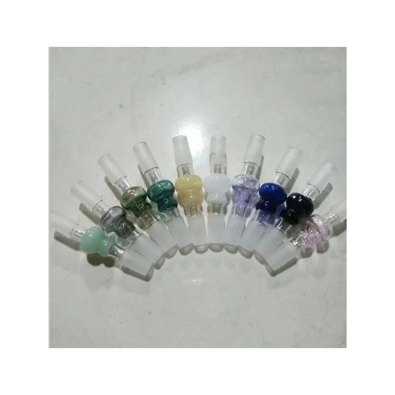 Adaptadores de colores de vidrio de calabaza caliente más nuevos 14 mm 18 mm hembra masculina de tallo para vidrio Bong Tubos de agua WMTKBP DH_Seller2010